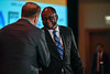 2017 YIA Recipient Oladapo Yeku, MD, PhD with Thomas G. Roberts, Jr., MD, Chair of the Conquer Cancer Foundation Board of Directors, during 2017 Grants & Awards Ceremony and Reception