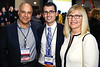 Aaron & Barbro Sasson with Philip D. Poorvu, MD, during 2017 Grants & Awards Ceremony and Reception