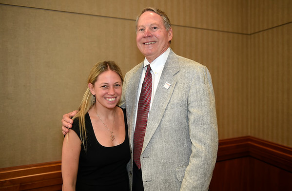 Dr. John Leonard and Dr. Alexandra Miller, The John and Elizabeth Leonard Family Foundation YIA recipient during 2017 Grants & Awards Ceremony and Reception