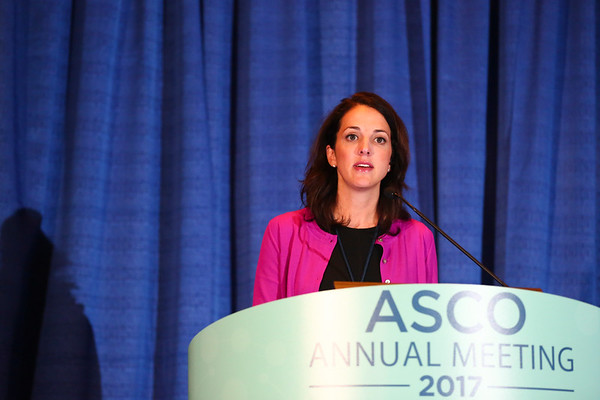Ashley Elizabeth Rosko, MD, speaks during Treating Myeloma in Older Patients