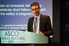 Matteo Lambertini, MD, Institut Jules Bordet, presenting Abstract LBA10066, Safety of pregnancy in patients (pts) with history of estrogen receptor positive (ER+) breast cancer (BC): Long-term follow-up analysis from a multicenter study, during Saturday Press Briefing