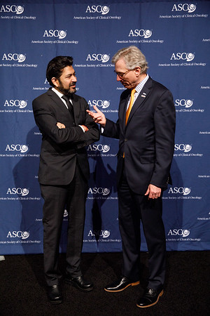 Daniel F. Hayes, MD, FACP, FASCO, ASCO President,, with Guest Speaker Siddhartha Mukherjee, MD, DPhil during Opening Session