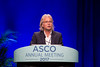 Gunter Von Minckwitz, MD, PhD, German Breast Group (GBG), presenting Abstract LBA500, APHINITY trial (BIG 4-11): A randomized comparison of chemotherapy (C) plus trastuzumab (T) plus placebo (Pla) versus chemotherapy plus trastuzumab (T) plus pertuzumab (P) as adjuvant therapy in patients (pts) with HER2-positive early breast cancer (EBC), during Breast Cancer Local/Regional/Adjuvant Oral Abstract Session