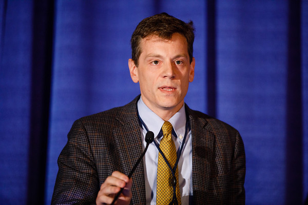 Timothy Norman Showalter, MD, speaks during Gynecologic Cancer Oral Abstract Session
