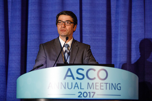 Philipp Harter (PI), MD, PhD, speaks during Gynecologic Cancer Oral Abstract Session