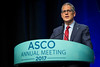 Ethan M. Basch, MD, MSc, FASCO, presenting LBA2 Overall survival results of a randomized trial assessing patient-reported outcomes for symptom monitoring during routine cancer treatment, during Plenary Session