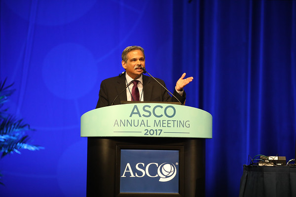 Shirish M. Gadgeel, MD, speaks during Upfront Management of Operable Non-Small Cell Lung Cancer