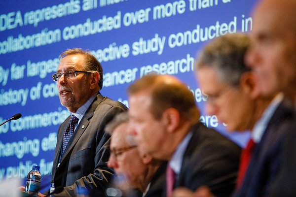 Richard Schilsky, MD, FACP, FASCO, speaks during Plenary Press Briefing
