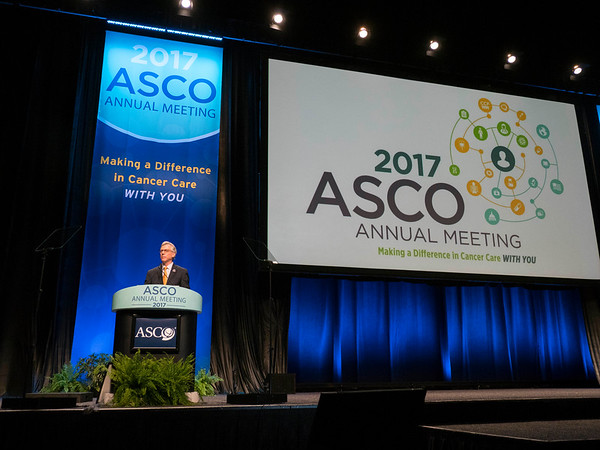 Daniel F. Hayes, MD, FACP, FASCO, ASCO President,, delivering his Presidential Address during Opening Session