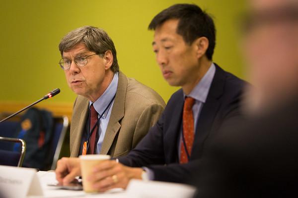 John Cox, DO, Journal of Oncology Practice Editor-in-Chief, speaks during Journal of Oncology Practice Associate Editors Meeting