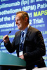 Arnaud Scherpereel, MD, PhD, University Hospital of Lille, presenting Abstract LBA8507, Second or 3rd line Nivolumab (Nivo) versus Nivo plus Ipilimumab (Ipi) in Malignant Pleural Mesothelioma (MPM) patients: results of the IFCT-1501 MAPS2 randomized phas, during Monday Press Briefing