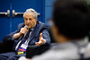 Joseph Bertino, MD, FASCO, speaking to trainees during Giants in the Field of Oncology session in the Trainee & Early Career Oncologist Member Lounge