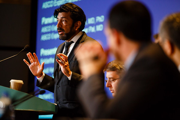 Siddhartha Mukherjee, MD, speaks during Saturday Press Briefing at the American Society of Clinical Oncology (ASCO) Annual Meeting here today, Saturday June 3, 2017.