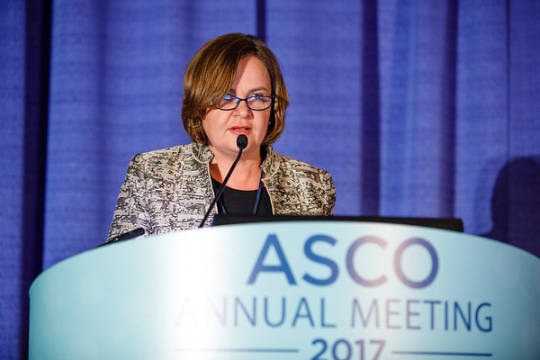 Daniela Matei speaks during Gynecologic Cancer Oral Abstract Session