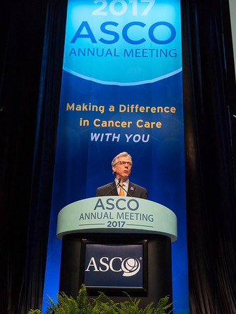 Daniel F. Hayes, MD, FACP, FASCO, ASCO President, delivering his Presidential Address during Opening Session