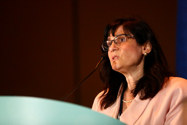Angela Dispenzieri, MD, speaks during Treating Myeloma in Older Patients