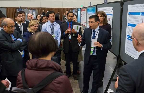 Attendees during Thursday's Poster session