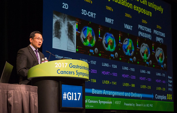 Steven Lin, MD, PhD, during General Session 1: Advances in Local Management and Therapy for Esophageal Cancer