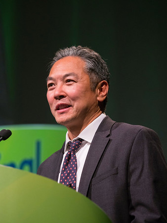 Calvin Jay Kuo, MD, PhD, during Keynote Lecture: The Journey From Intestinal Stem Cells to Cancer Organoids
