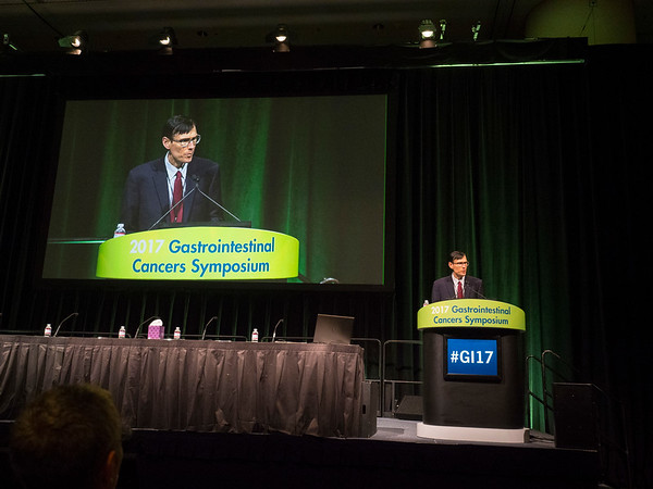 William Grady, MD, greets attendees during Opening Session