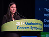 Dr. Monica Tang presents Abstract 227 during Oral Abstract Session B: Cancers of the Pancreas, Small Bowel, and Hepatobiliary Tract