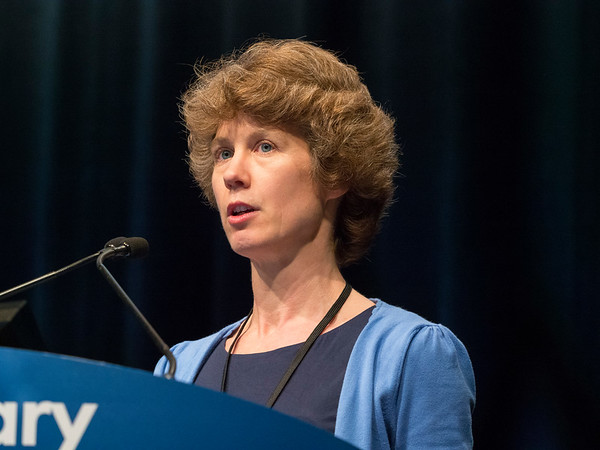 "Emma Hall, PhD, Clinical Trials and Statistics Unit, The Institute of Cancer Research, presenting Abstract #280, ""BC2001 long-term outcomes: A phase III randomized trial of chemoradiotherapy versus radiotherapy (RT) alone and standard RT versus reduced high-dose volume RT in muscle-invasive bladder cancer"""
