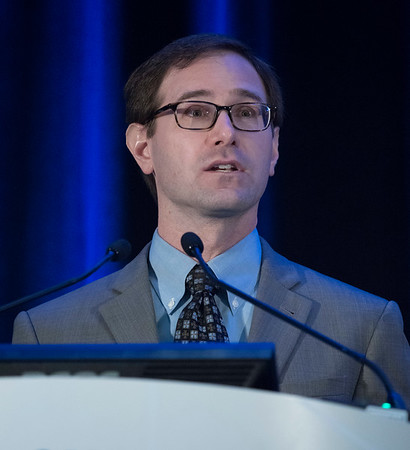 Jeremy Hirst, MD, presents during General Session 4
