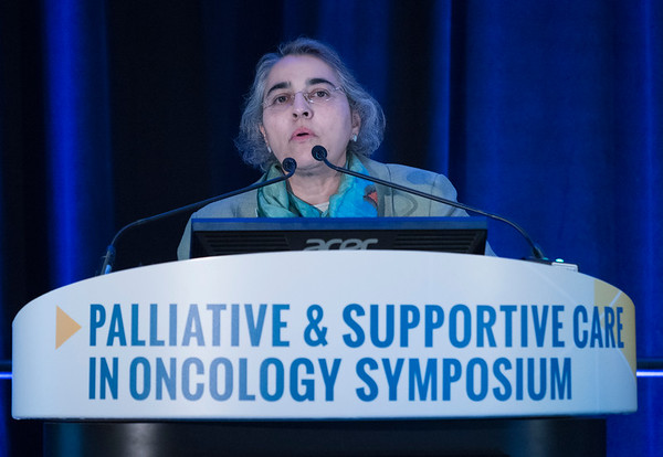 Aminah Jatoi, MD, presents during General Session 2