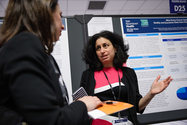 Kerin B. Adelson, MD, during Poster Session A
