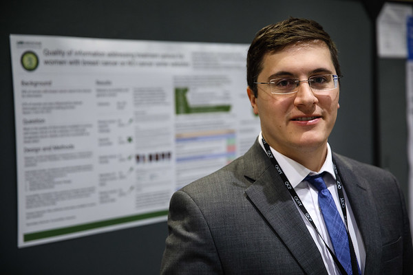 Caleb Dulaney, MD, during Poster Session A