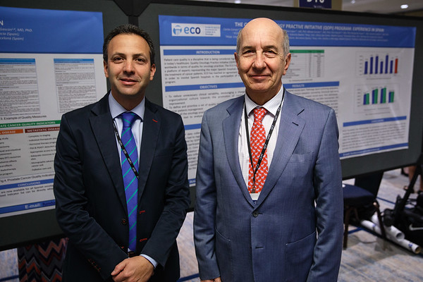 Alvaro Rogado, QOPI Certification Program and the Foundation for Excellence in Oncology in Spain, during the quality improvement agreement signing