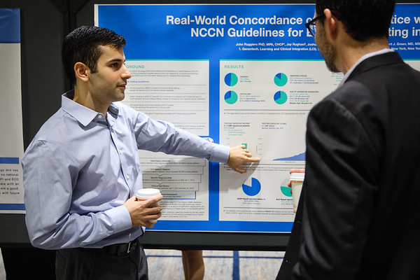 Ray Rughani presenting during Poster Session B