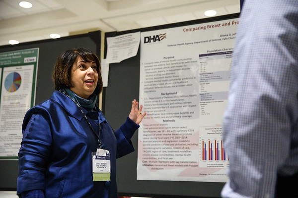 Diana D Jeffery, PhD, during Poster Session A