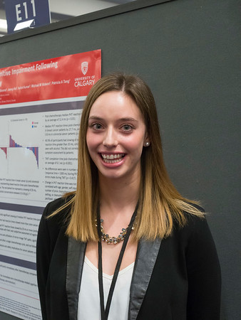"""Abstract #146, """"Immediate-term Chemotherapy-Related Cognitive Impairment (CRCI) Following Administration of Intravenous (IV) Chemotherapy,"""" presented by Ellen Cusano (for Omar Farooq Khan, MD, University of Calgary Faculty of Medicine)"""