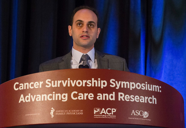 Mohammad Abu Zaid, MD, during Abstract 102: Metabolic syndrome (MetS) after platinum-based chemotherapy (CHEM): A multicenter study of North American testicular cancer survivors (TCS)