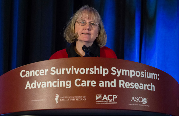 Discussant Wendy Landier, PhD, CRNP, FAAN, during Oral Abstract Session B