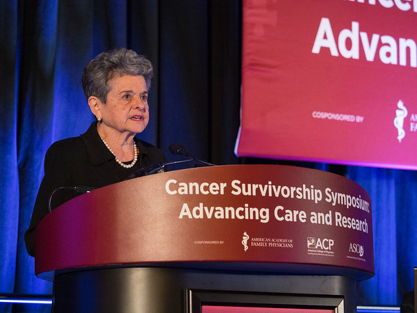 Ellen L. Stovall Award & Lecture Recipient Anna Meadows, MD, Professor Emeritus, during Ellen L. Stovall Award & Lecture