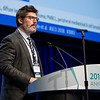 Frederick Lundry Locke, MD, presents Abstract 3003 during Developmental Therapeutics--Immunotherapy Oral Abstract Session
