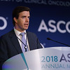 Geoffrey R. Oxnard, MD, Dana-Farber Cancer Institute, presenting Abstract 8501, Genome-wide sequencing for early stage lung cancer detection from plasma cell-free DNA (cfDNA): The Circulating Cancer Genome Atlas (CCGA) study, during Saturday Press Briefing