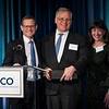 Clifford A. Hudis, MD, FACP, FASCO, honoring ASCO President, Bruce E. Johnson, MD, FASCO, during President's Dinner