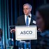 Bruce E. Johnson, MD, FASCO, speaking during President's Dinner