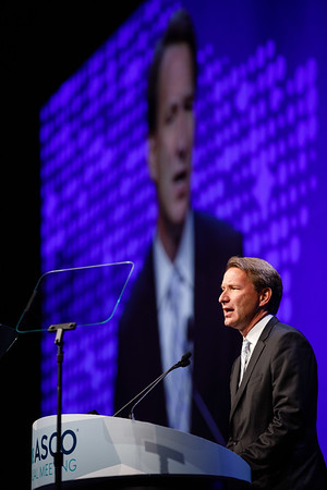 Norman Sharpless, MD, delivering the NCI Director's remarks during Opening Session