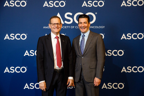 Clifford A. Hudis, MD, FACP, FASCO, and Scott Gottlieb, MD, during Opening Session