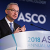 Jose Baselga, MD, PhD, FASCO, Memorial Sloan Kettering Cancer Center, presenting Abstract 1006, Phase III study of taselisib (GDC-0032) + fulvestrant (FULV) v FULV in patients (pts) with estrogen receptor (ER)-positive, PIK3CA-mutant (MUT), locally advanced or metastatic breast cancer (MBC): Primary analysis from SANDPIPER, during Saturday Press Briefing