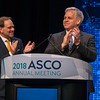 Thomas G. Roberts, Jr. and ASCO President Bruce Johnson, MD, FASCO, during Opening Session