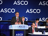 Joseph A. Sparano, MD, Montefiore Medical Center, presenting LBA 1, TAILORx: Phase III trial of chemoendocrine therapy versus endocrine therapy alone in hormone receptor-positive, HER2-negative, node negative breast cancer and an intermediate prognosis 21-gene recurrence score, during Plenary Press Briefing