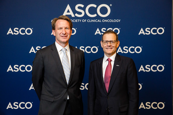 Norman Sharpless, MD, and Clifford A. Hudis, MD, FACP, FASCO, during Opening Session