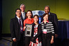 Daniel F. Hayes, MD, FACP, FASCO, Karen H. Lu, MD, and Otis Brawley, MD, MACP, during ASCO-ACS Award and Lecture