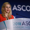 Apostolia Maria Tsimberidou, MD, PhD, The University of Texas MD Anderson Cancer Center, presenting Abstract 2553, Precision Medicine: Clinical Outcomes including Long-Term Survival According to the Pathway Targeted and Treatment Period: The IMPACT Study, during Saturday Press Briefing