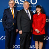 Daniel F. Hayes, MD, FACP, FASCO, Bruce E. Johnson, MD, FASCO, and Monica Bertagnolli, MD, FASCO, during Opening Session